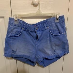 Divided Light Blue Shorts Size 10